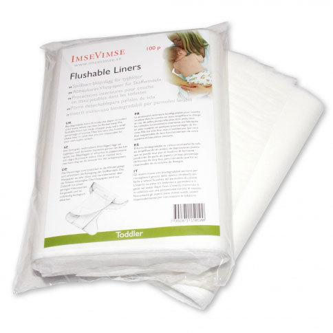Imse Vimse Flushable Diaper Liners Toddler