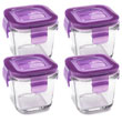 Wean Green Wean Cubes Glass Baby Food Containers - Grape 4 Pack
