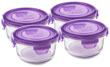 Wean Green Lunch Bowls Baby Food Containers - Grape 4 Pack
