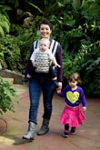 USED CatBird Baby Pikkolo Carrier with Black Babywearing Support Belt - Astoria - Final Sale
