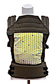 USED Baby Hawk OH SNAP! Baby Carrier Boston - Birdie Tweets Grass on Olive Straps - Final Sale