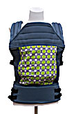 USED Baby Hawk OH SNAP! Baby Carrier Lisbon - Free Dots Lime on Steely Blue Straps - Final Sale