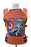 USED Baby Hawk OH SNAP! Baby Carrier Tokyo - Koi Pond Blue on Pumpkin Straps - Final Sale