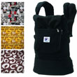 Ergo Baby Options Baby Carrier - Black with FREE!! Bold option covers