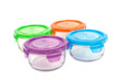 Wean Green Lunch Bowls Baby Food Containers - Multi-Color Garden Set of 4 Featuring Grape