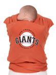 USED - Moby Wrap MLB Edition Baby Carrier, San Francisco Giants, Orange - Final Sale