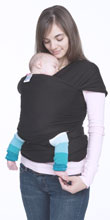 USED Moby Organic Wrap Carrier - Black Licorice - Final Sale