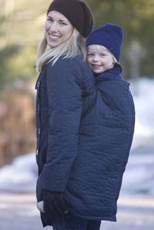 Ergo Baby Ergo Baby Papoose Coat Winter Blue