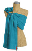 USED Sakura Bloom PURE Linen Ring Sling - Lagoon - Final Sale