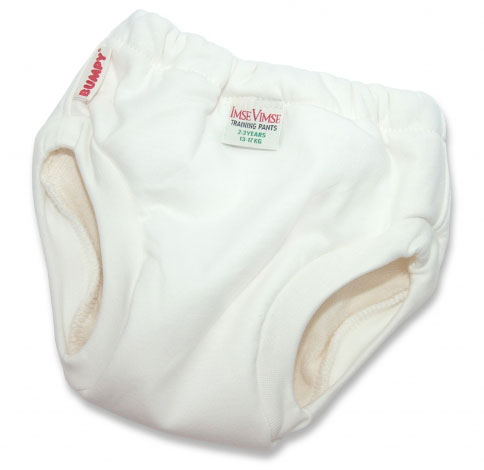 Imse Vimse Organic Cotton Training Pants White