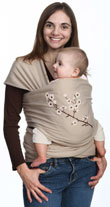 USED Moby Wrap Carrier UV - Almond Blossom - Final Sale