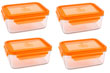 Wean Green Meal Tub Glass Food Storage Containers - Carrot Set of 4