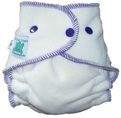 Clover Front Snapping Organic Fitted Diaper