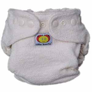 Little Beetle Organic Hemp Trim Fitted Diaper