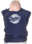 USED - Moby Wrap MLB Edition Baby Carrier, Minnesota Twins- Navy - Final Sale