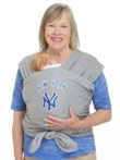 USED Moby Wrap MLB Edition Baby Carrier, New York Yankees, Gray - Final Sale