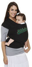 USED Moby Wrap MLB Edition Baby Carrier, Oakland Athletics, Black - Final Sale