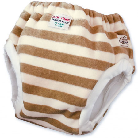 Imse Vimse Organic Velour Training Pants Mocha Stripe
