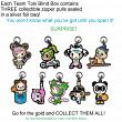 JuJuBe Tokidoki X Team Toki - Zipper Pulls Blind Boxes