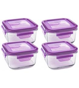 Wean Green Lunch Cubes Baby Food Containers - Grape 4 Pack