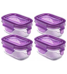 Wean Green Wean Tubs Baby Food Containers - Grape 4 Pack