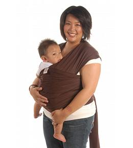 Moby Wrap Carrier - Chocolate
