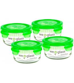 Wean Green Lunch Bowls Baby Food Containers - Pea 4 Pack