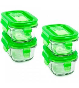 Wean Green Wean Tubs Baby Food Containers - Pea 4 Pack