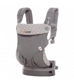 USED ERGO Baby Carrier - Four Position 360 Baby Carrier Dewy Grey - FINAL SALE